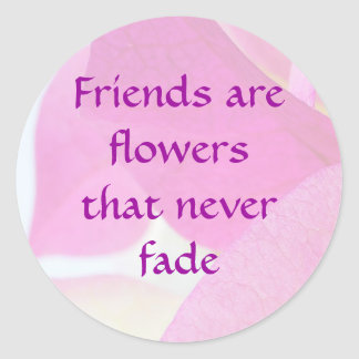Bougainvillea Friendship Classic Round Sticker