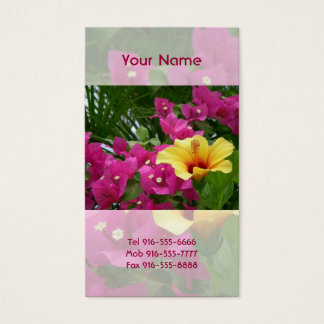 Bougainvillea & Hibiscus Business Cards