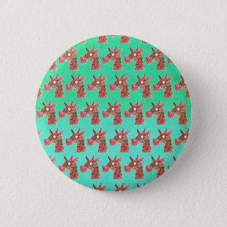Bougainvillea Unicorn 2 Inch Round Button