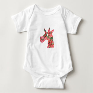 Bougainvillea Unicorn Baby Bodysuit