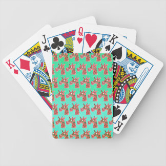 Bougainvillea Unicorn Bicycle Playing Cards
