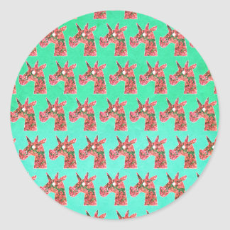 Bougainvillea Unicorn Classic Round Sticker