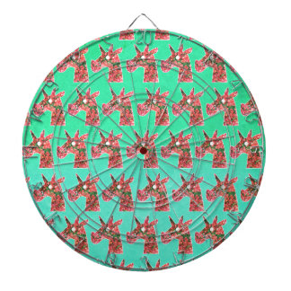 Bougainvillea Unicorn Dartboard