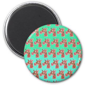 Bougainvillea Unicorn Magnet