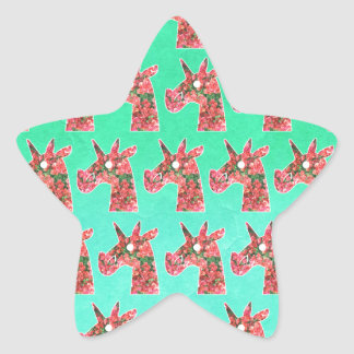 Bougainvillea Unicorn Star Sticker