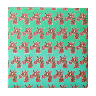 Bougainvillea Unicorn Tile