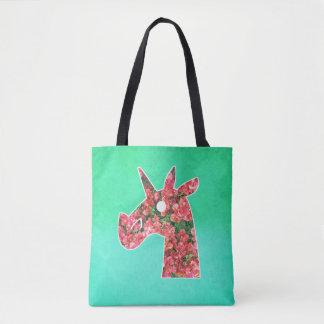 Bougainvillea Unicorn Tote Bag