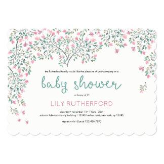Bougainvillea Watercolor Baby Shower Card