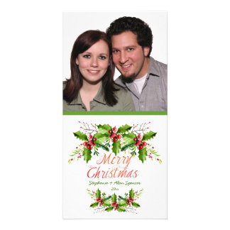 Boughs of Holly Holiday Photo Cards