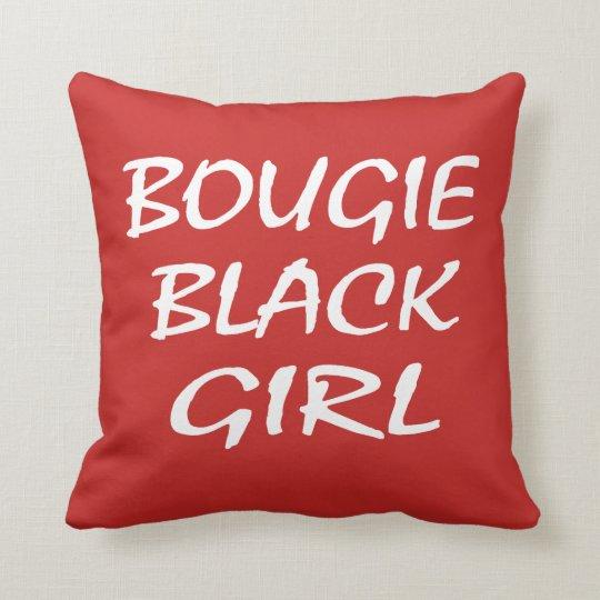 Bougie Black Girl Throw Pillow