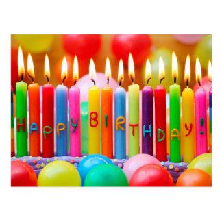 Bougies de joyeux anniversaire carte postale