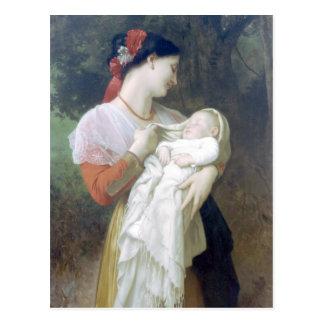 Bouguereau - Admiration Maternelle Postcard
