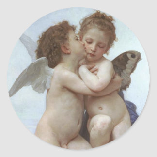 Bouguereau Adolphe William Round Sticker