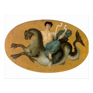 Bouguereau - Arion sur un Cheval Marin Post Card