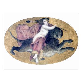 Bouguereau - Bacchante sur une Panthère Post Card
