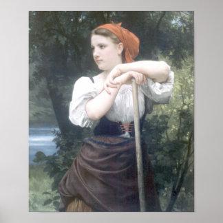 Bouguereau - Faneuse Poster
