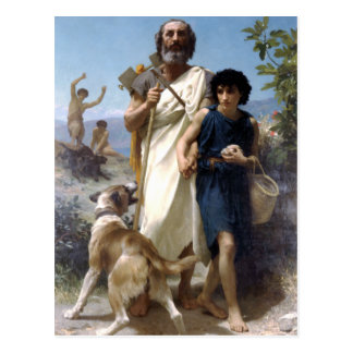 Bouguereau - Homere et son Guide Postcard