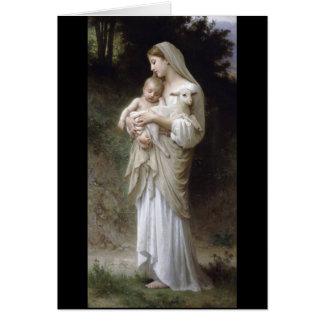 Bouguereau Innocence Lady Child Lamb Card