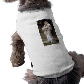 Bouguereau Innocence Lady Child Lamb Dog Clothes