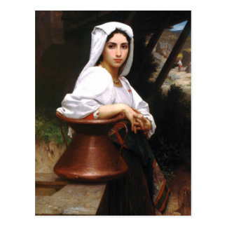 Bouguereau Italian Girl Drawing Water Postcard