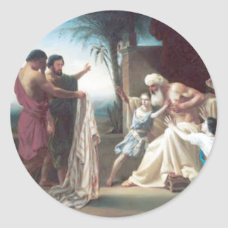 Bouguereau - Jacob Recevant le Tunique de son Fils Classic Round Sticker