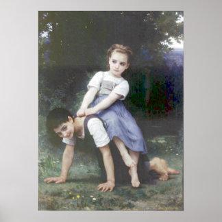 Bouguereau - La Bourrique Poster