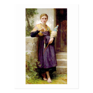 Bouguereau - La Fileuse Postcard