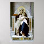 Bouguereau - La Vierge, L'Enfant Jésus et saint Je Affiches