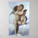 Bouguereau - L'Amour et Psyché, Enfants Poster