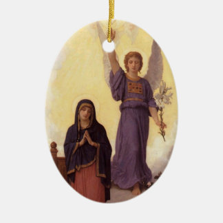 Bouguereau - L'Annonciation Ceramic Ornament