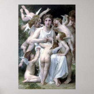 Bouguereau - L'Assaut Poster