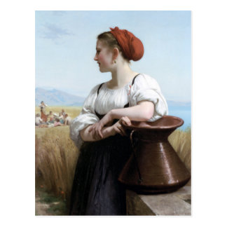 Bouguereau - Moissonneuse Postcard