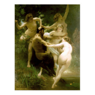 Bouguereau - Nymphes et Satyre Postcard