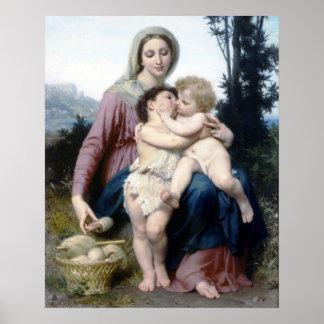 Bouguereau - Sainte Famille Poster