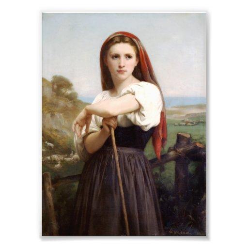 Bouguereau Shepherdess Photographic Print