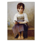 Bouguereau The Hard Lesson Greeting Card