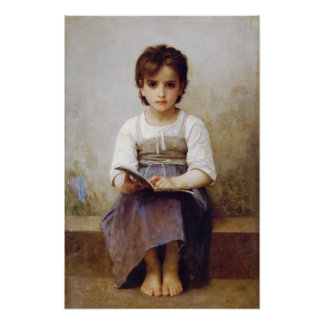 Bouguereau The Hard Lesson Poster