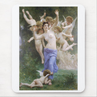 "Bouguereau, ""The Invasion"" or ""The Wasp's Nest"" Mouse Pad"