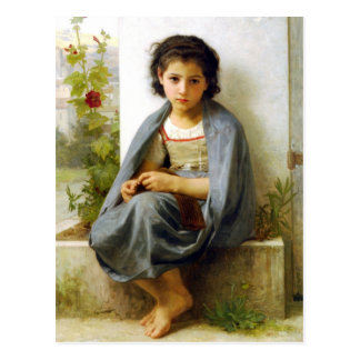 Bouguereau The Little Knitter Postcard