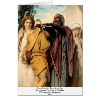 Bouguereau - Tobias disant Au-Revoir à son Père Card