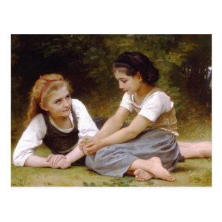 Bouguereau's 1882 The Nut Gatherers  Les noisettes Postcard