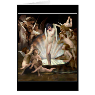 Bouguereau's Angels Surround Cupid Card