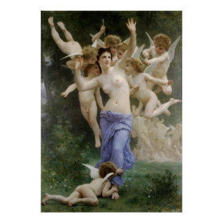 Bouguereau's Classic 1892 Painting The Wasp's Nest Poster