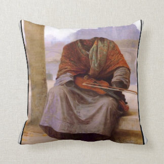 Bouguereau's The Invisible  Bohemian Throw Pillow
