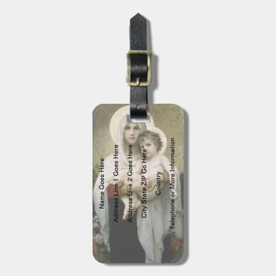 Bouguereau's The Madonna of the Roses (1903) Luggage Tag