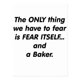 Boulanger de crainte cartes postales
