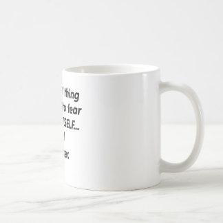 Boulanger de crainte mug blanc
