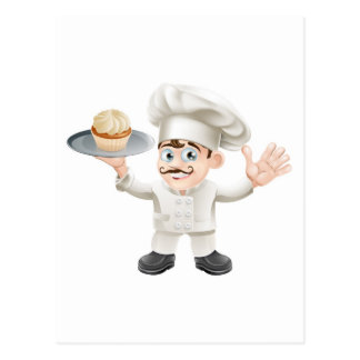 Boulanger de gâteau cartes postales