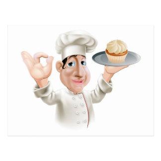 Boulanger heureux carte postale