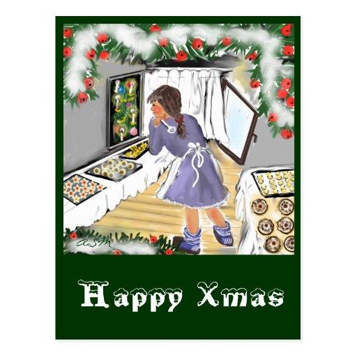 Boulangerie de Noël - carte postale